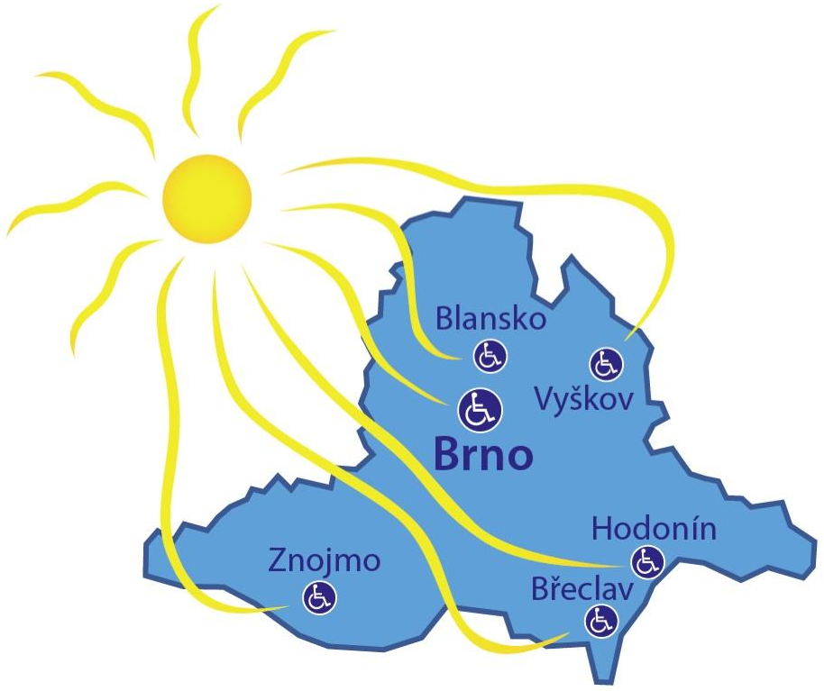mapa středisek